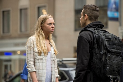 MR. ROBOT --Portia Doubleday as Angela Moss, Rami Malek as Elliot Alderson -- (Photo by: David Giesbrecht/USA Network)