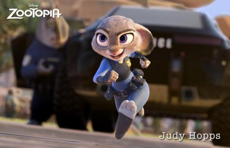 ZOOTOPIA – JUDY HOPPS, an optimistic bunny who's new to Zootopia's police department. ©2015 Disney. All Rights Reserved.