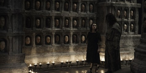 Maisie-Williams-as-Arya-Stark-and-Tom-Wlaschiha-as-Jaqen-H---Ghar-in-Game-of-Thrones-Season-6-Episode-5