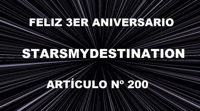 Feliz tercer cumpleaños, Starsmydestination!