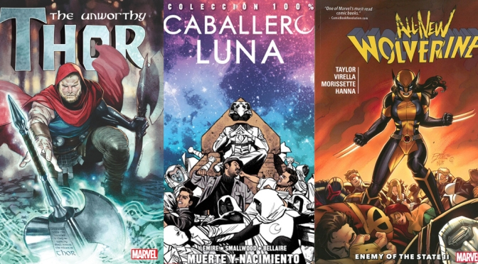 Reseñas Express Marvel: El indigno Thor, Moon Knight vol. 6 y Lobezna vol. 3