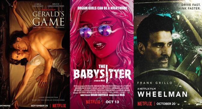 Reseñas Express Netflix: El juego de Gerald, The Babysitter y Wheelman
