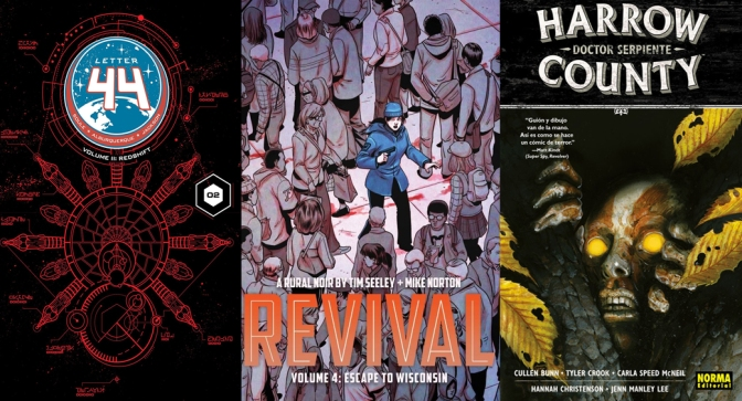 Reseñas Express: Revival Vol. 4, Letter 44 Vol. 2 y Harrow County Vol. 3