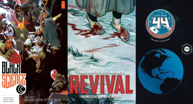 Reseñas Express: Revival vol. 5, Letter 44 vol. 5 y Black Science vol. 7