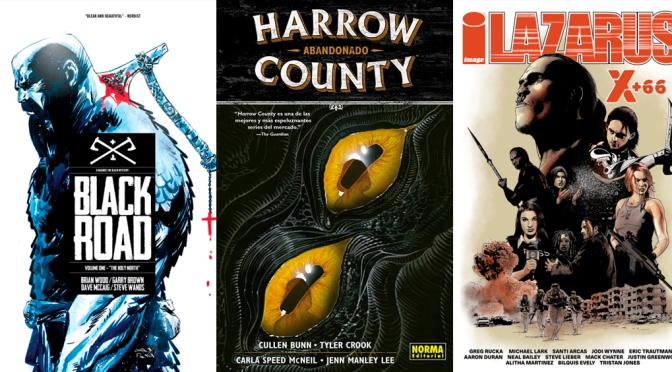 Reseñas Express: Black Road, Harrow County vol. 5 y Lazarus X+66
