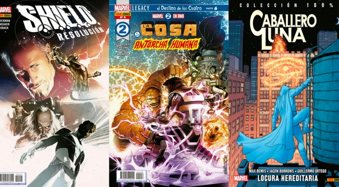 Reseñas Express Marvel: SHIELD, Marvel two-in-one 1-6, Moon Knight Vol. 7