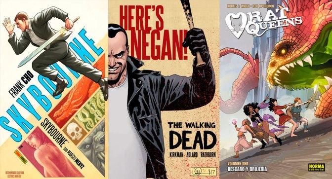 Reseñas Express: Skybourne, Negan y Rat Queens vol. 1 y 2