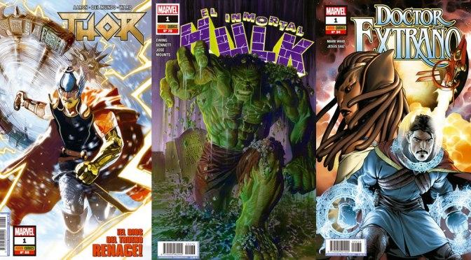 Reseñas Express Marvel: Nuevos nº1 de Thor, Inmortal Hulk y Doctor Extraño