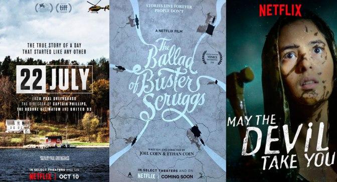 Reseñas Express Netflix: 22 de Julio, La balada de Buster Scruggs y Que el diablo te lleve