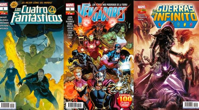 Reseñas Express Marvel: Los 4 Fantásticos 1, Vengadores 100 y Guerras del Infinito 1