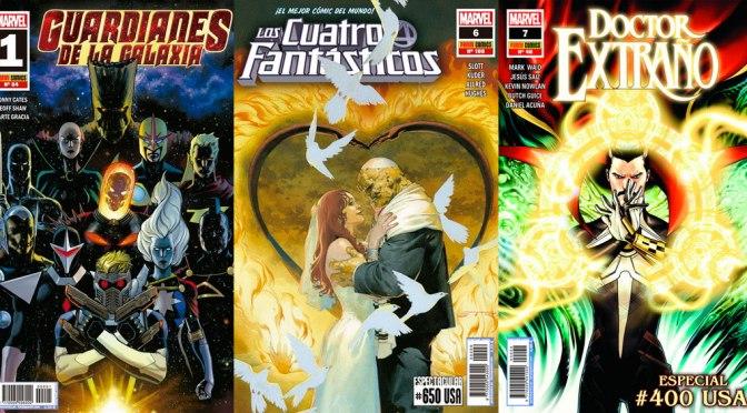Reseñas Express Marvel: Guardianes de la Galaxia 1, Los 4 Fantásticos 650 y Doctor Extraño 400