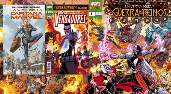 Reseñas Express Marvel: La Guerra de los Reinos 1, Vengadores 8 y La Vida de la Capitana Marvel