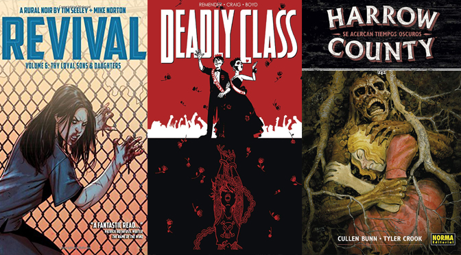 Reseñas Express: Revival vol. 6, Harrow County vol. 7 y Deadly Class vol. 8