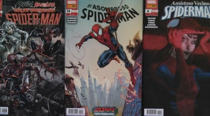 Reseñas de Asombroso Spideman 14, Amistoso Vecino Spiderman 6 y Miles Morales Spiderman 7