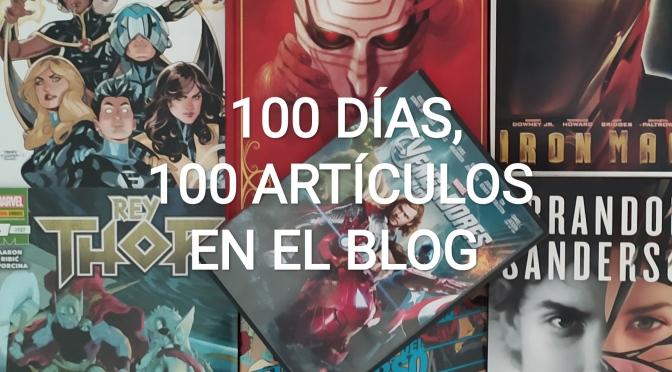 100 días, 100 artículos en el blog