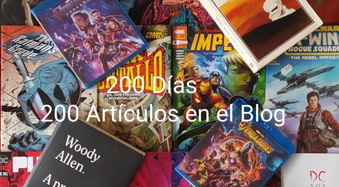 200 días, 200 artículos en el blog