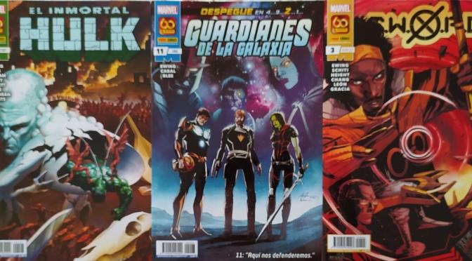 Crítica de El Inmortal Hulk 31, Guardianes de la Galaxia 11 y SWORD 3 de Al Ewing y vv.aa. (Marvel Comics – Panini)